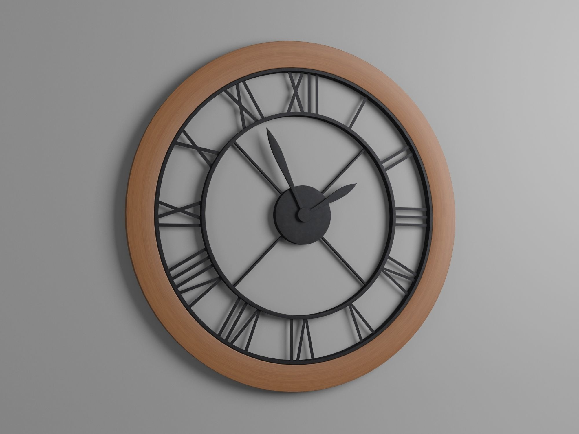 The Wall Clock With Roman Numerals By