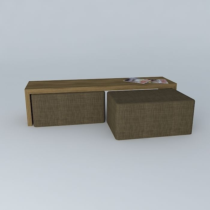 Coffee Table And Seats Free 3D Model Max Obj 3ds Fbx Stl Skp