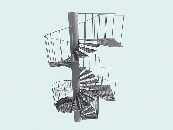 3d escalera model download max obj fbx 3ds c4d stl files for Escaleras 3d max