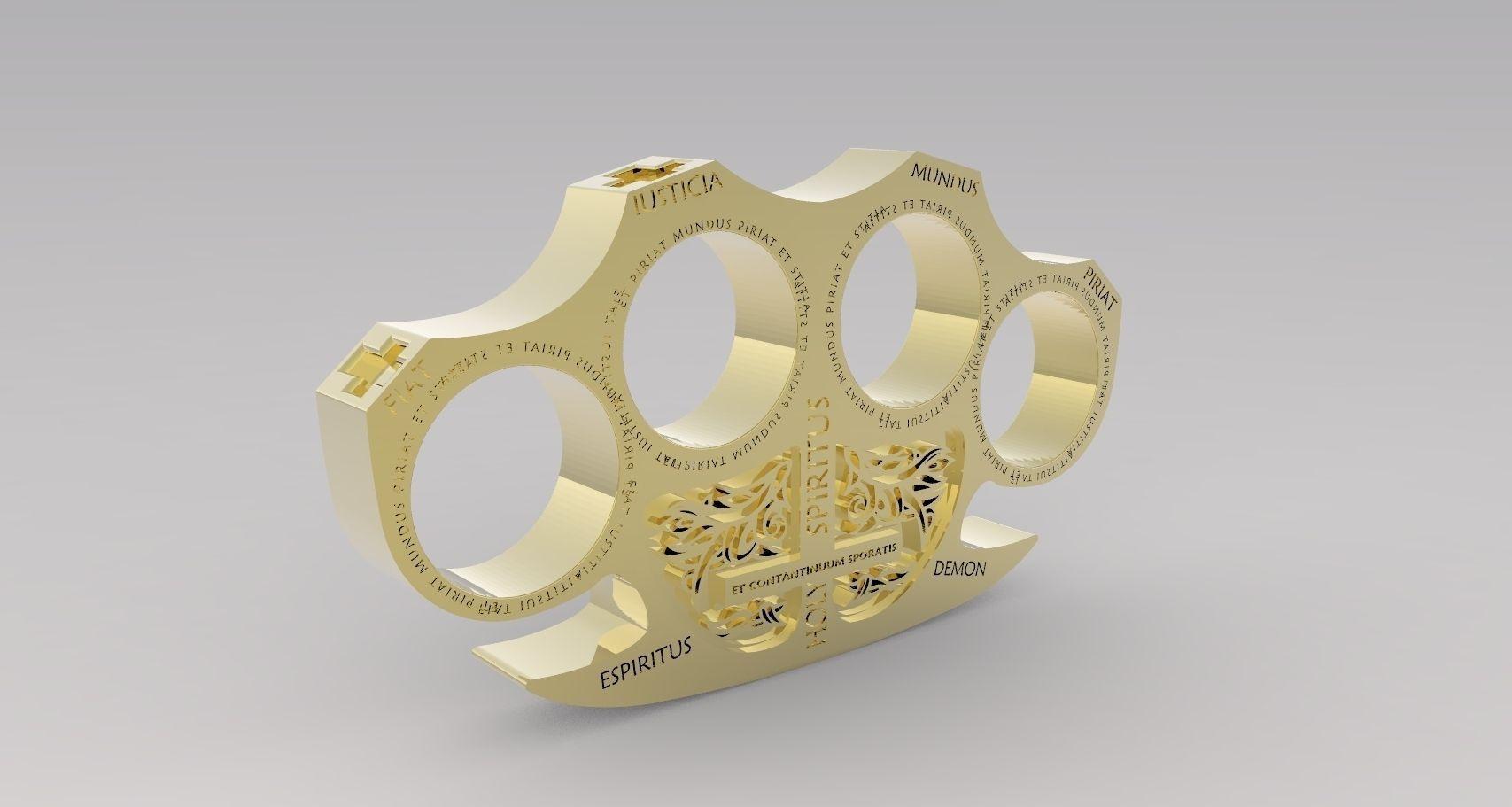 holy brass knuckles 3d model 3d printable stl cgtradercom