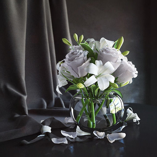 Flowers In Vase 2 3d Model Cgtrader
