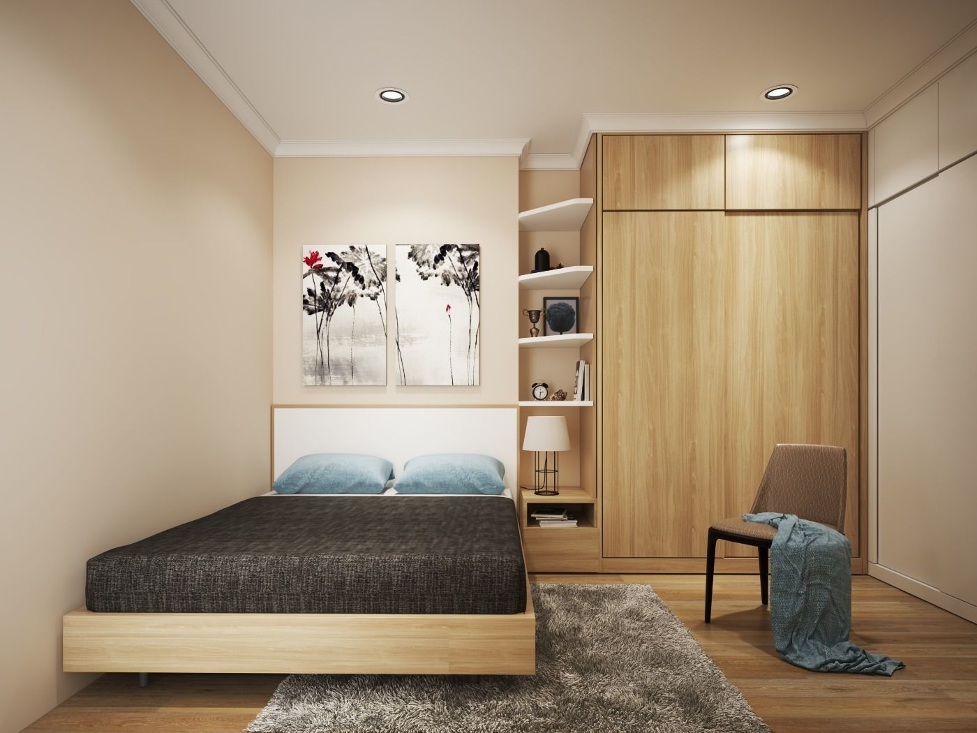 Simple Modern Bedroom Cgtrader