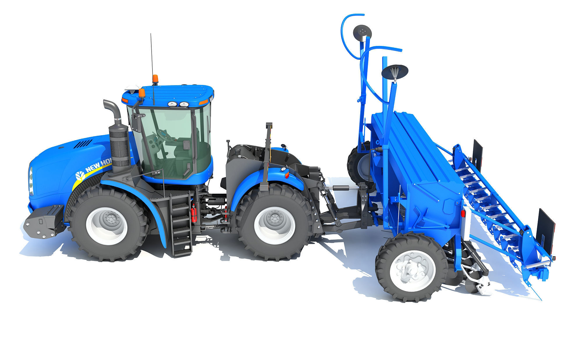 New Holland Tractor with Seed Drill