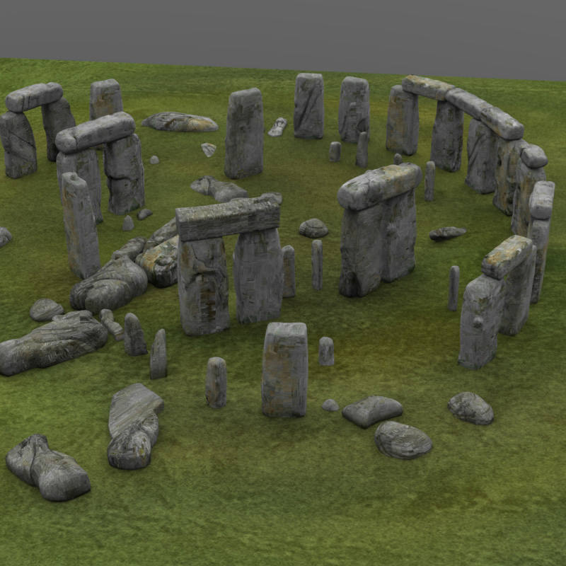 Stonehenge 3d model obj 3d model sites