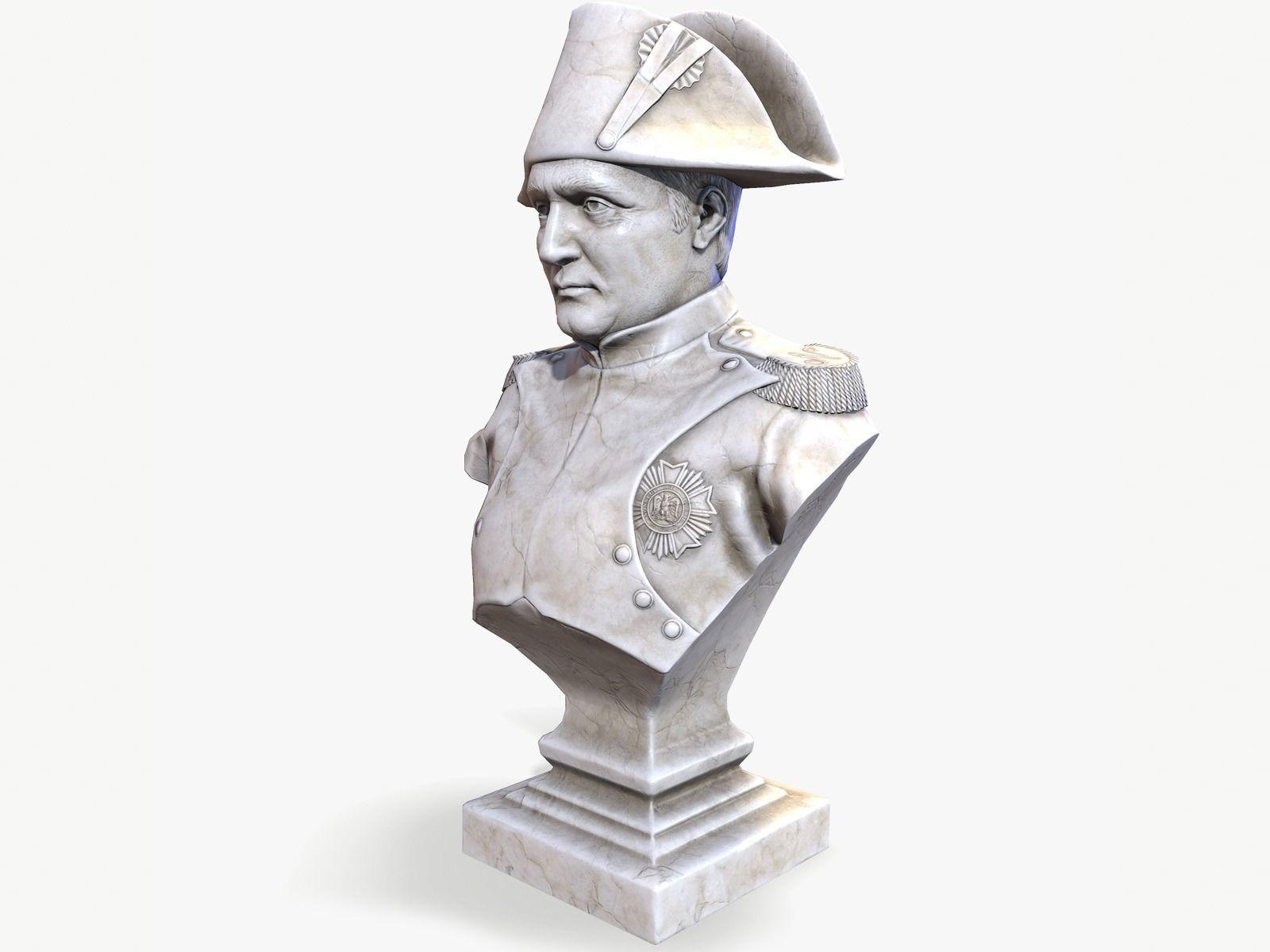Napoleon Bonaparte Bust lowpoly