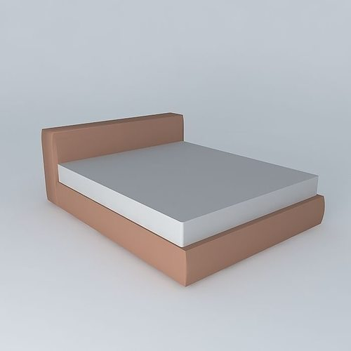 simple bed 3d model max obj 3ds fbx stl skp