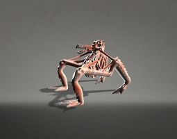 terrifying creature rigged 3d model game-ready