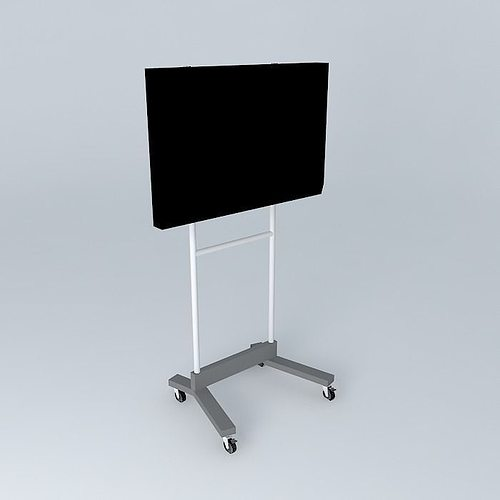 3d model stand tv cgtrader. Black Bedroom Furniture Sets. Home Design Ideas