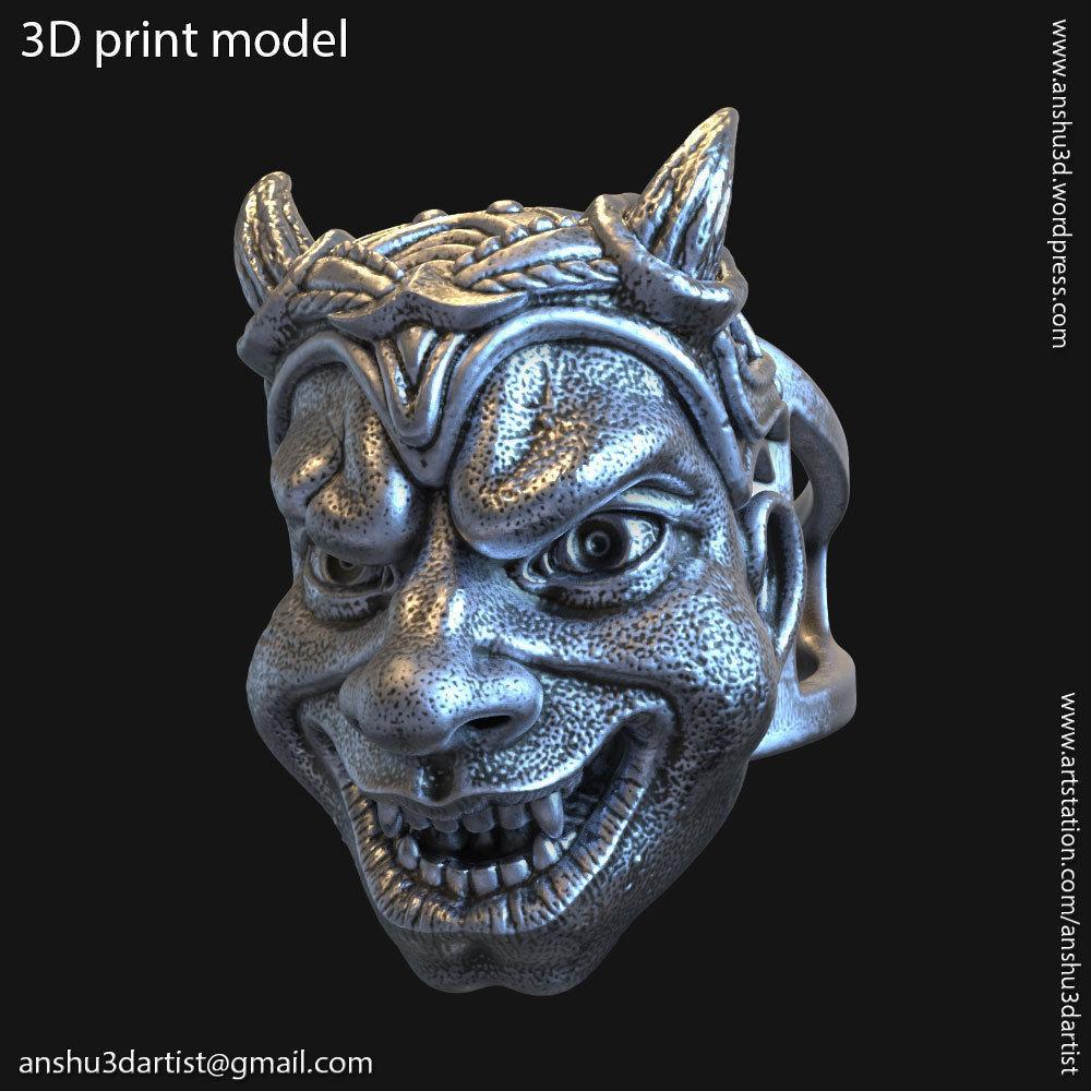 Demon skull vol2 ring jewelry