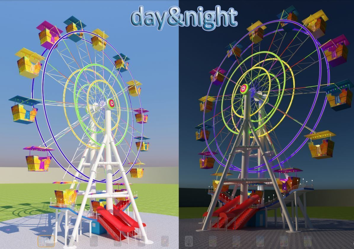 Ferris wheel day and night
