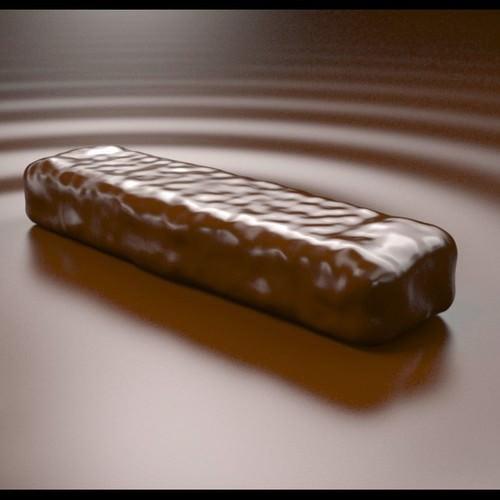 Chocolate bar 3d model max obj for Food bar 3d model