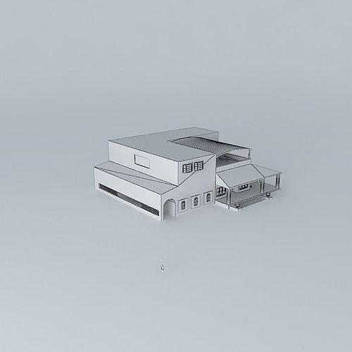 Haciendia 3d Model Max Obj 3ds Fbx Stl Skp