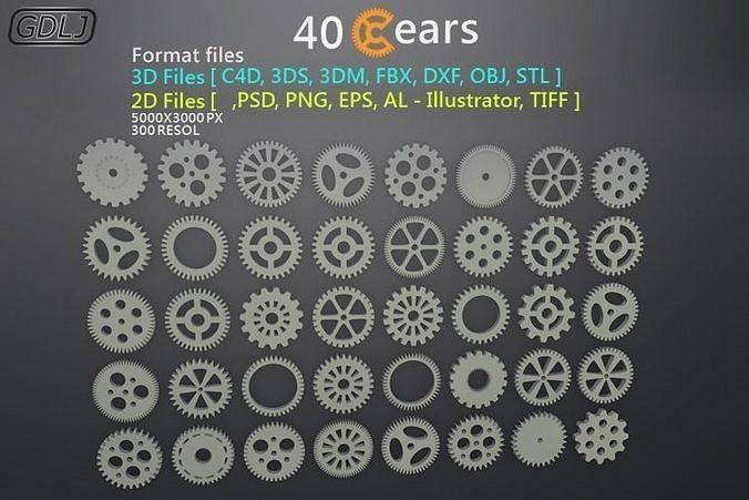 40 Gears 3D-2D Format files