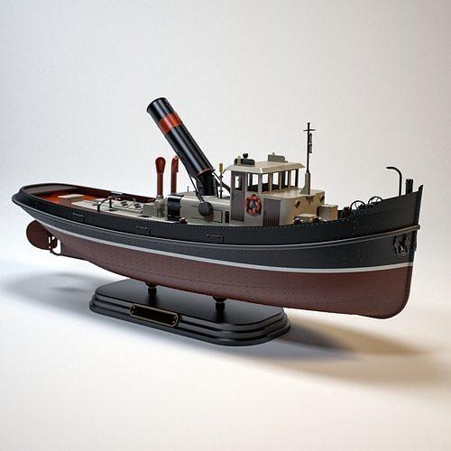 Dutch Steam Tugboat Model Kit