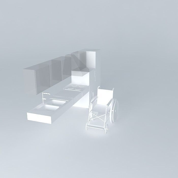 3D Kitchen for Disabled Person | CGTrader