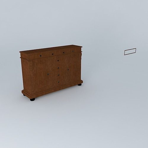Sideboard classic line free 3d model max obj 3ds fbx stl skp for Sideboard 3d