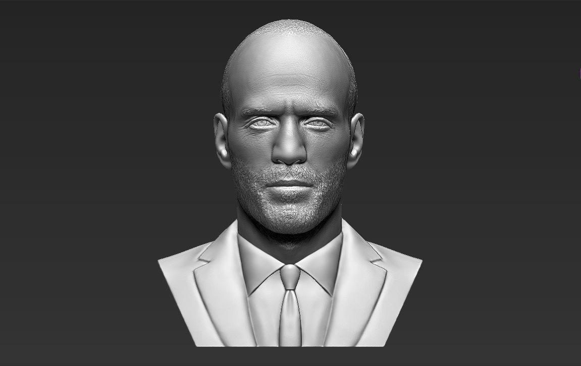 Jason Statham bust 3D printing ready stl obj formats