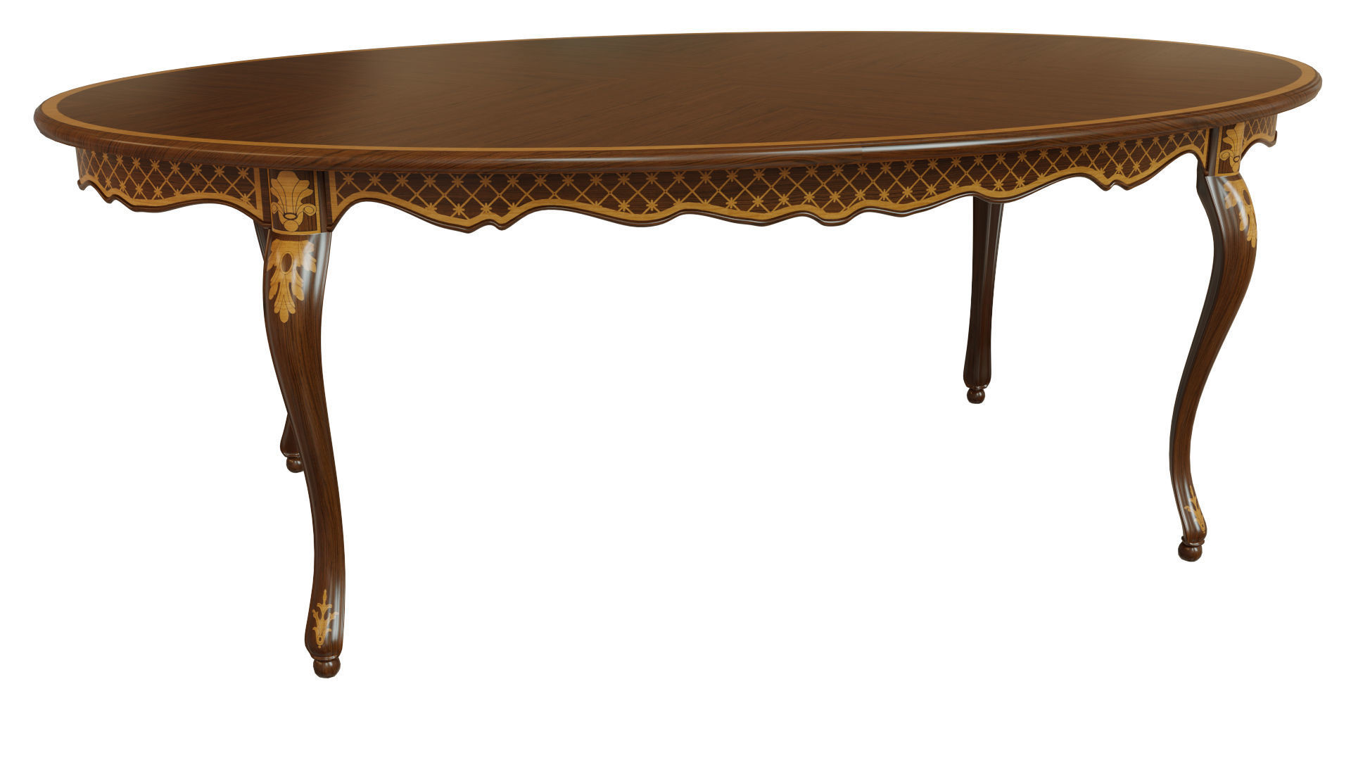 Classic table with inlaid veneer 2100