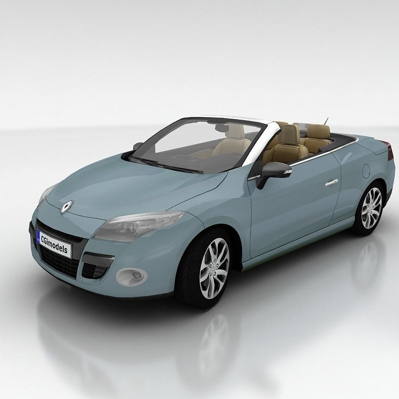 Renault Megane Coupe: 3D Model Renault Megane Coupe Cabriolet With Interior VR