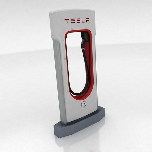 tesla supercharger 3d model low-poly max obj fbx mtl 1