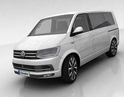 volkswagen t6 multivan 3d asset low-poly