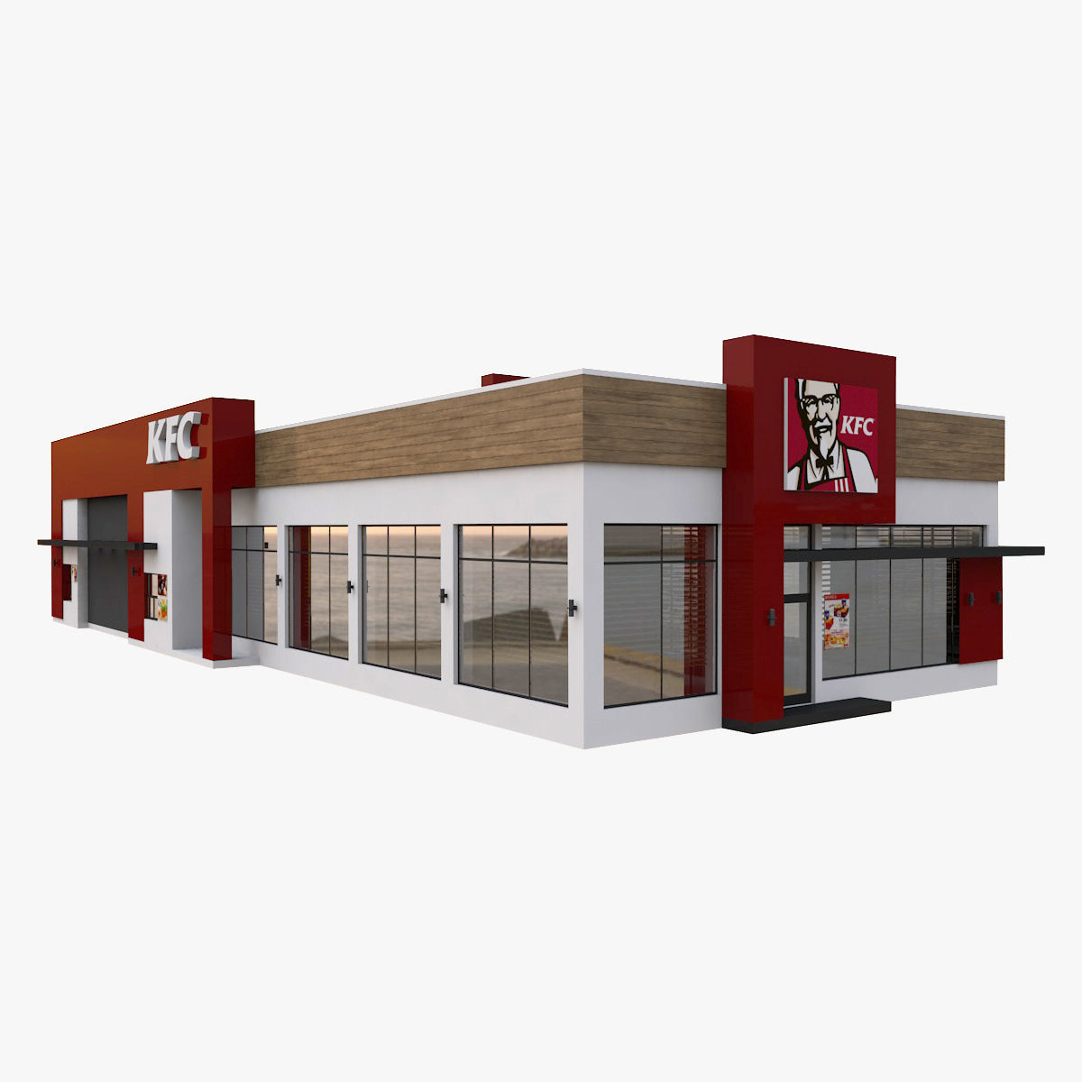 KFC Restaurant Drive Thru