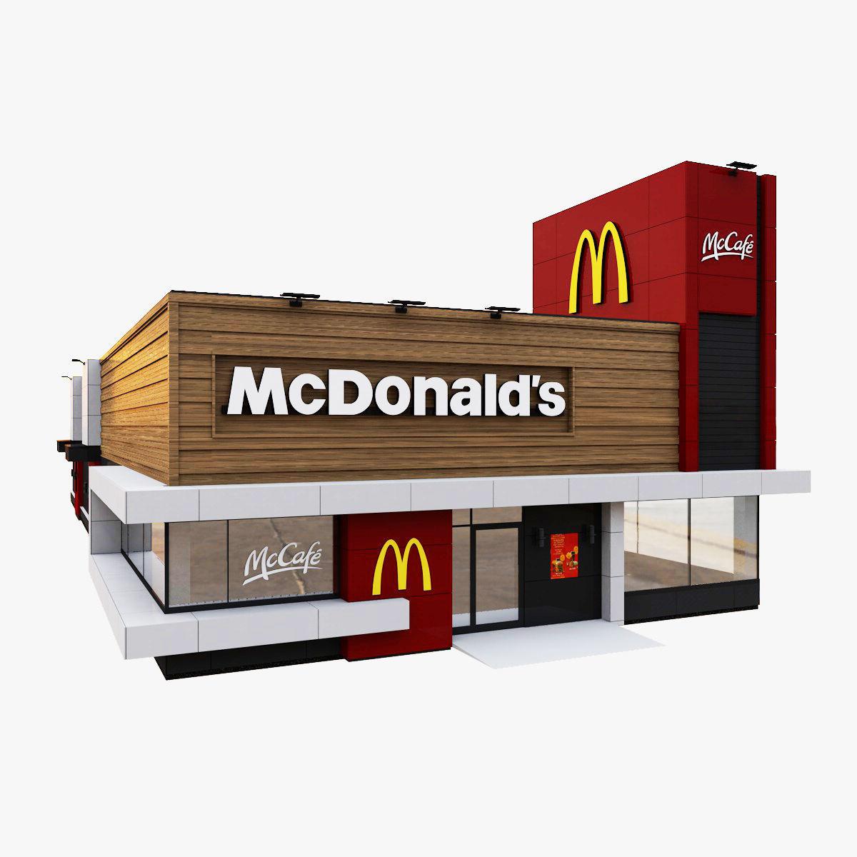 European McDonalds McCafe Restaurant