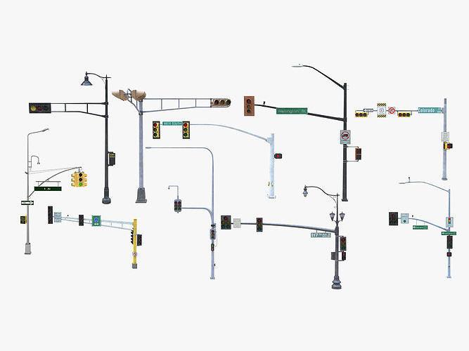 10 Street Light with Traffic