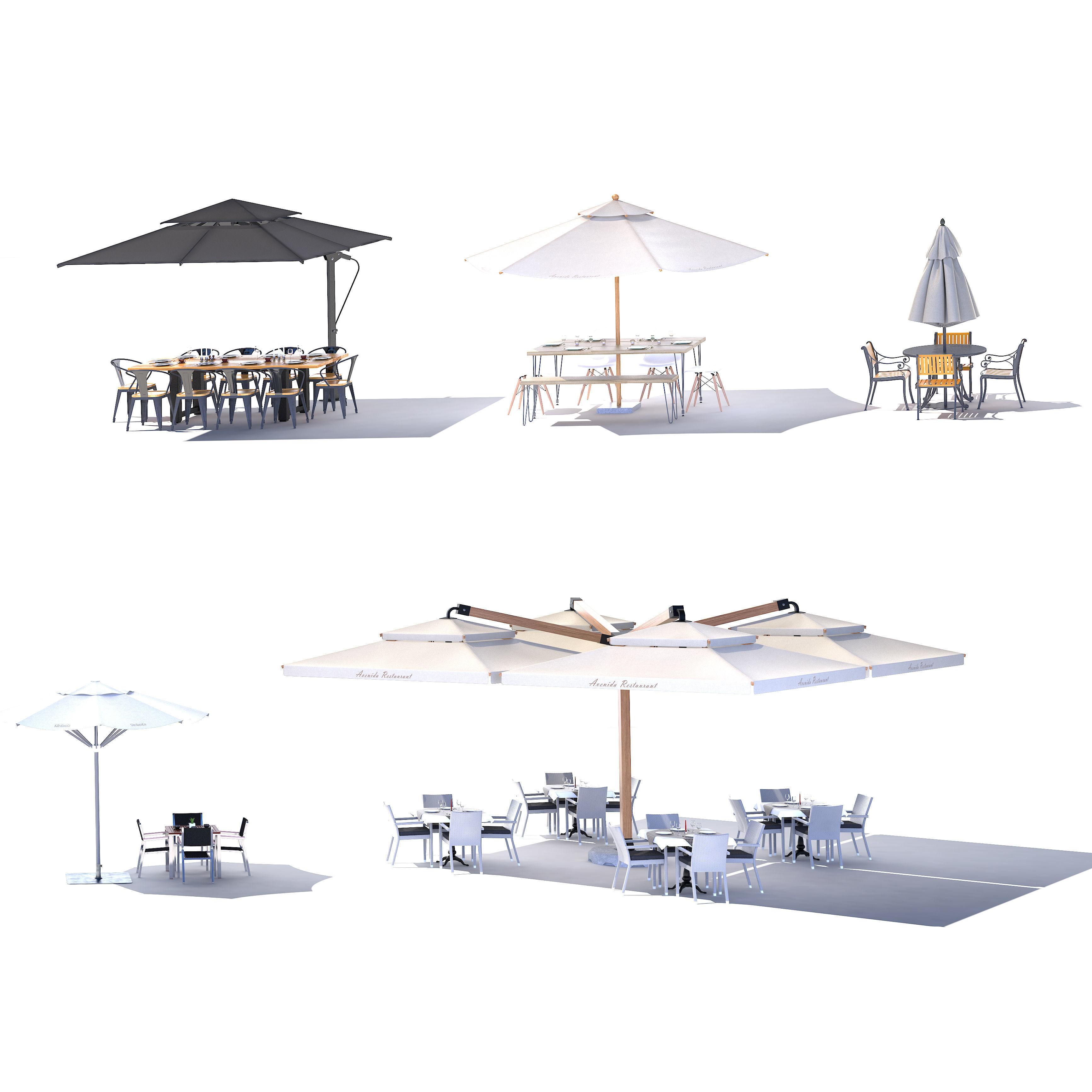Outdoor terrace cantilever umbrella