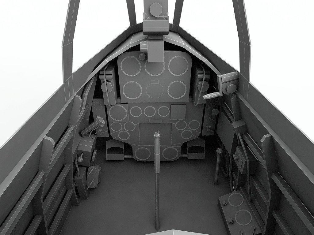 Cockpit Nakajima Ki 43 Oscar WWII Aircraft