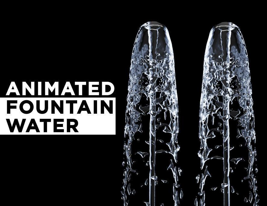 Animated Water Fountain Flow - NO PLUGIN Liquid simulation