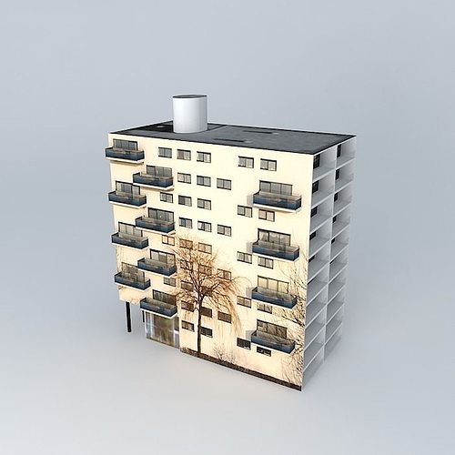 3d model apartment modern building cgtrader for New model apartment