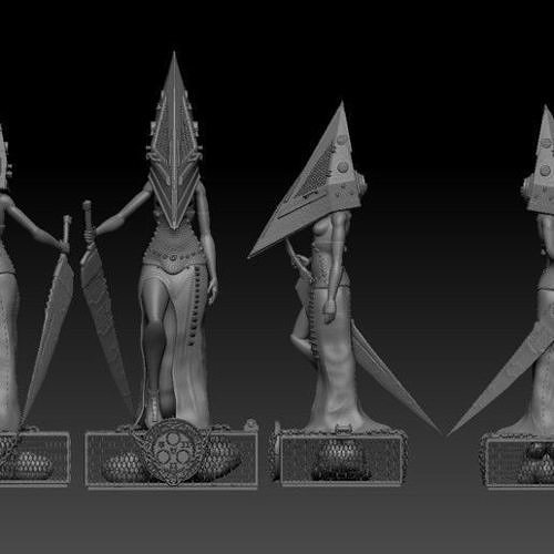 Pyramid Head Girl Silent Hill Fan Art