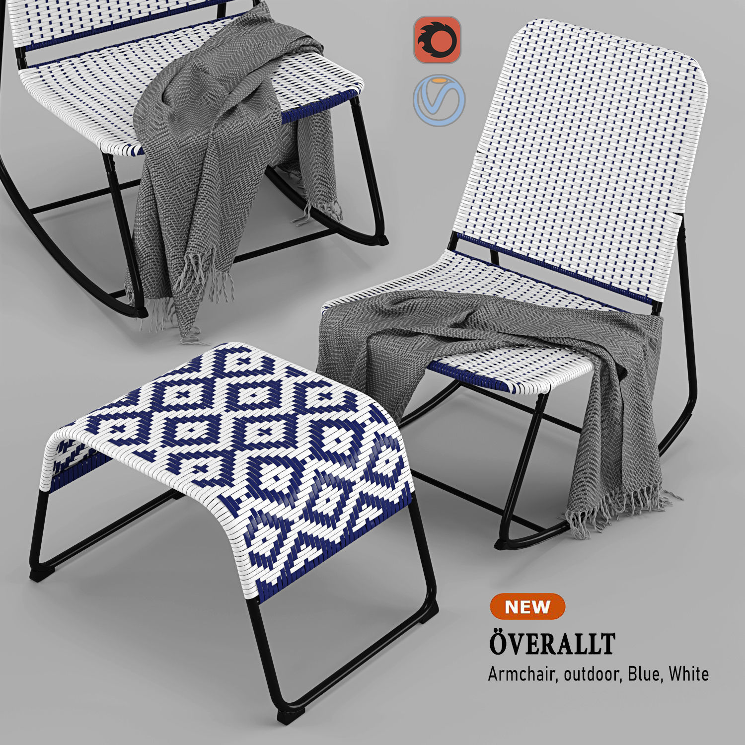 Ikea Armchair Overallt Chair Outdoor Furniture 3d