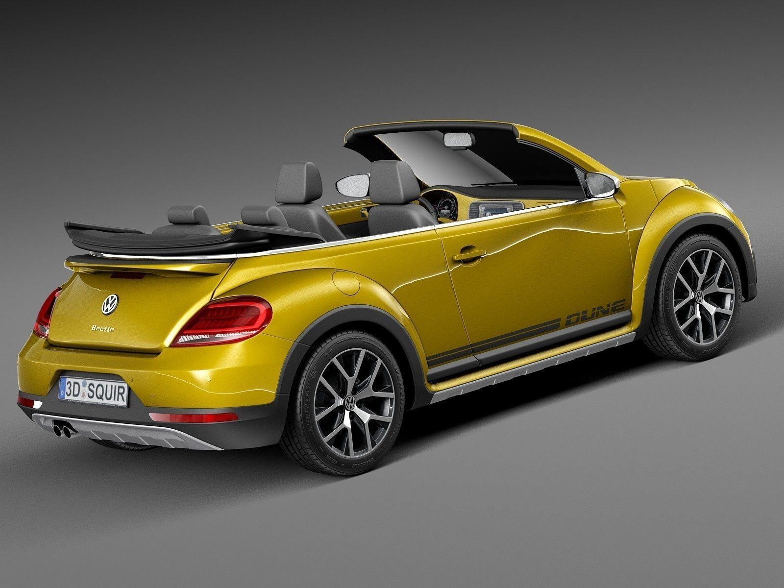volkswagen beetle dune convertible 2016 3d model max obj 3ds fbx c4d lwo lw lws. Black Bedroom Furniture Sets. Home Design Ideas