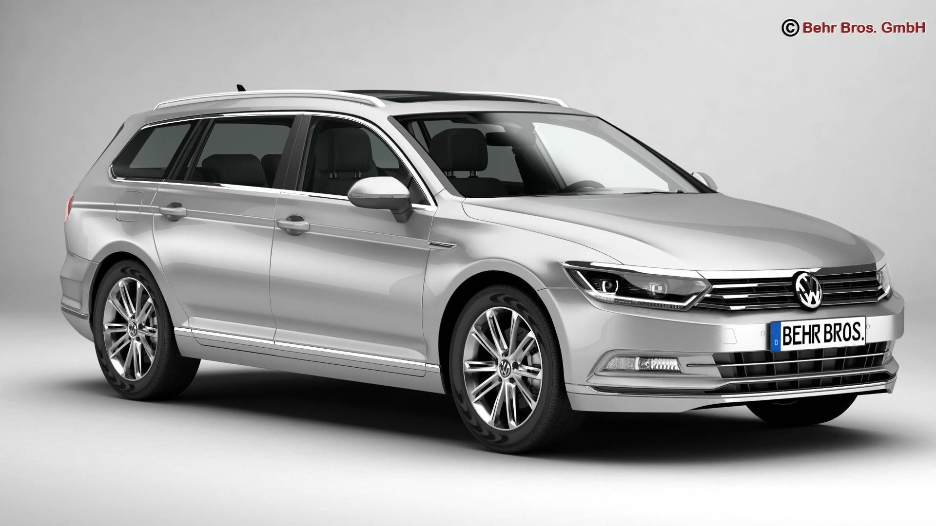 volkswagen passat variant 2015 3d model max obj 3ds fbx c4d lwo lw lws. Black Bedroom Furniture Sets. Home Design Ideas