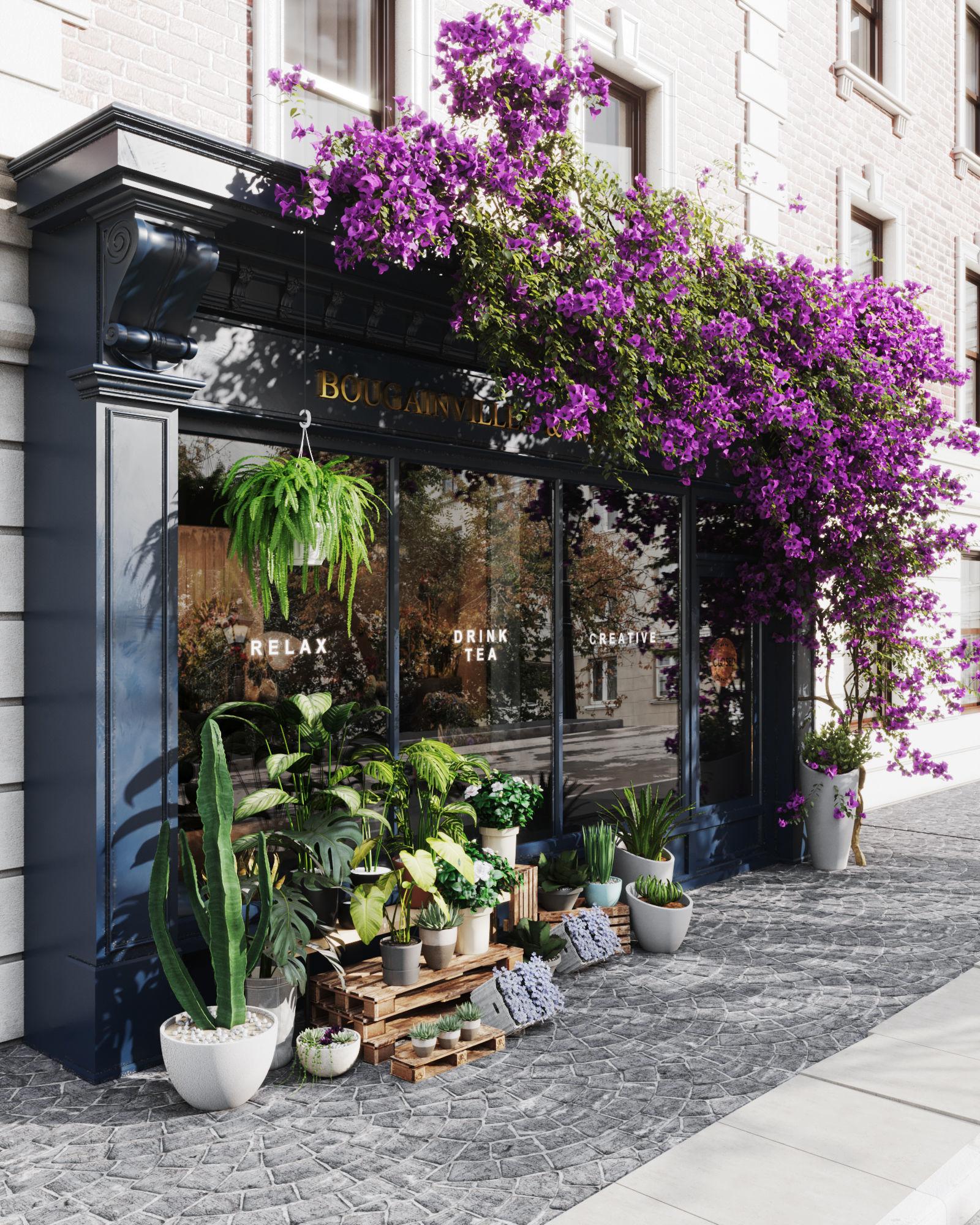 flower shop facade dessign