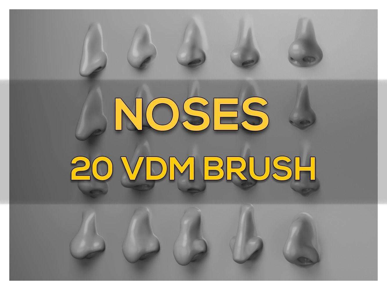 NOSES - 20  VDM Brush for ZBRUSH