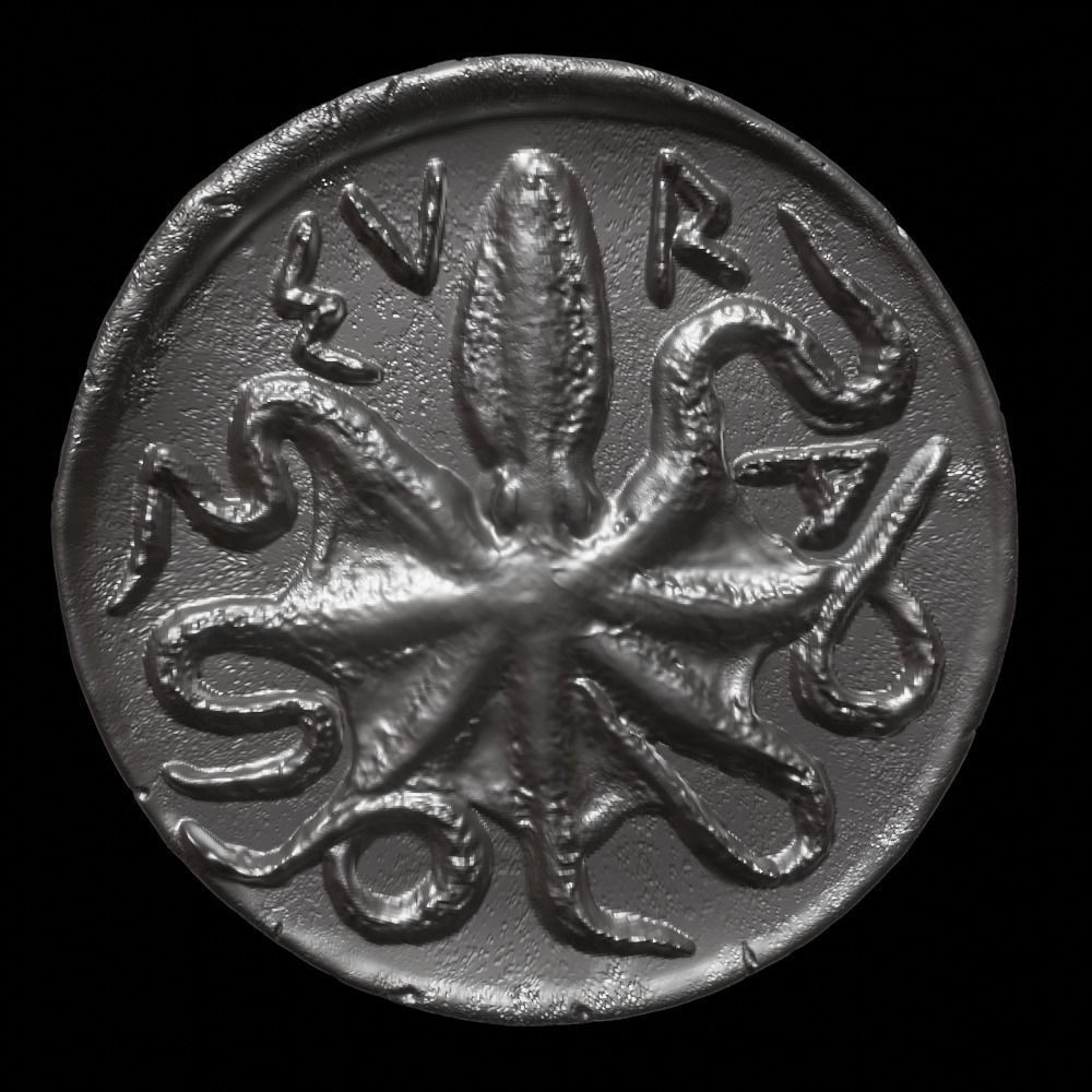 Octopus Coin-Silver Litra