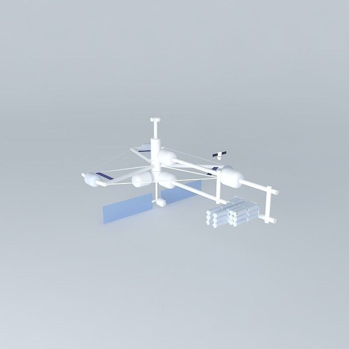 Icarus space station free 3d model max obj 3ds fbx for Space station 13 3d