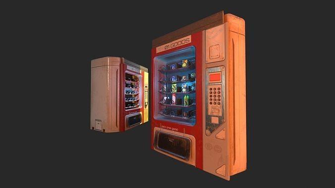 Sci-Fi Vending Machine And Snacks props
