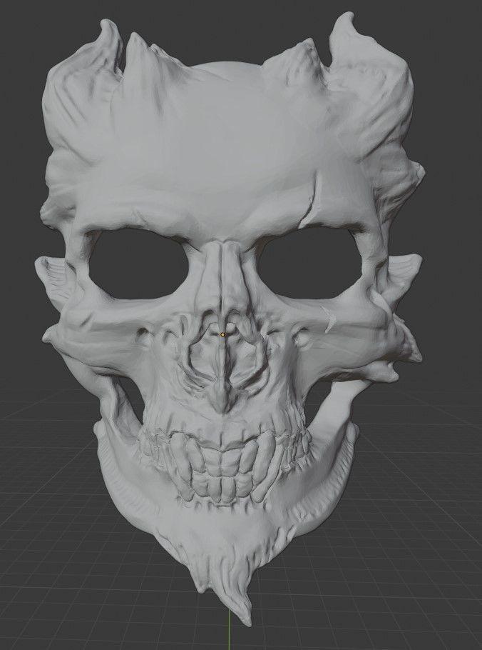 3D printable model Halloween Demon Skull Mask | CGTrader
