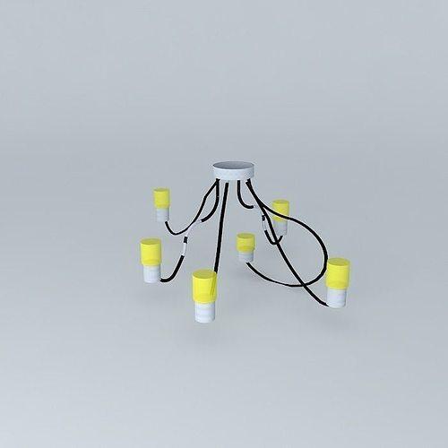 Flex Ceiling Lamp Interior 3d Model Max Obj 3ds Fbx Stl Skp