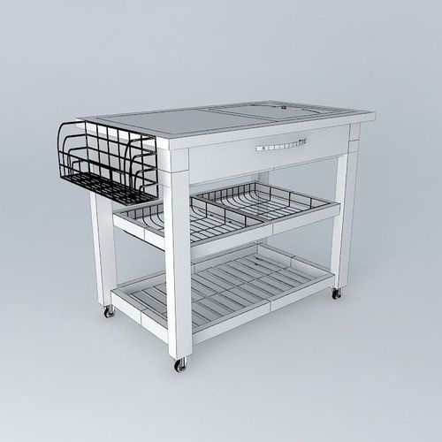 Mobile Kitchen Bench Free 3d Model Max Obj 3ds Fbx Stl Skp