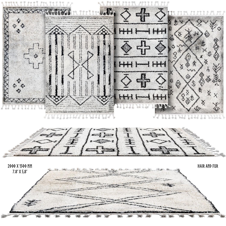 Scandinavian carpets with long pile