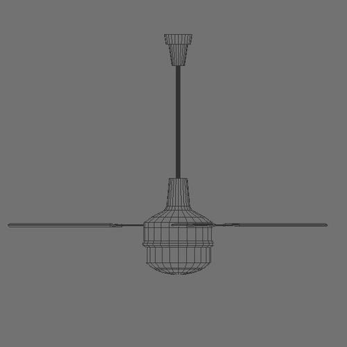 Industrial Ceiling Light 3ds Max: Ceiling Fan 3D Model .max .obj .3ds .fbx .c4d