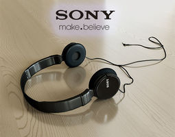 3d sony mdr-zx110ap headphones