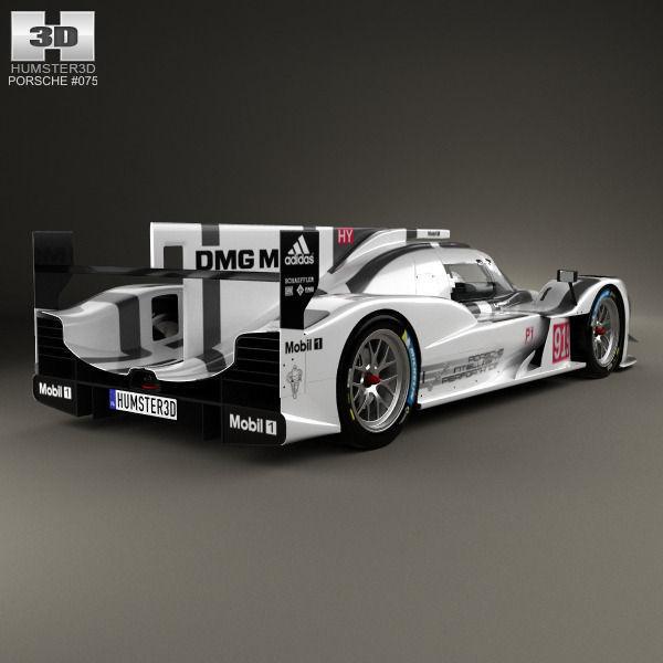 3d Model Porsche 919 Hybrid 2014 Cgtrader
