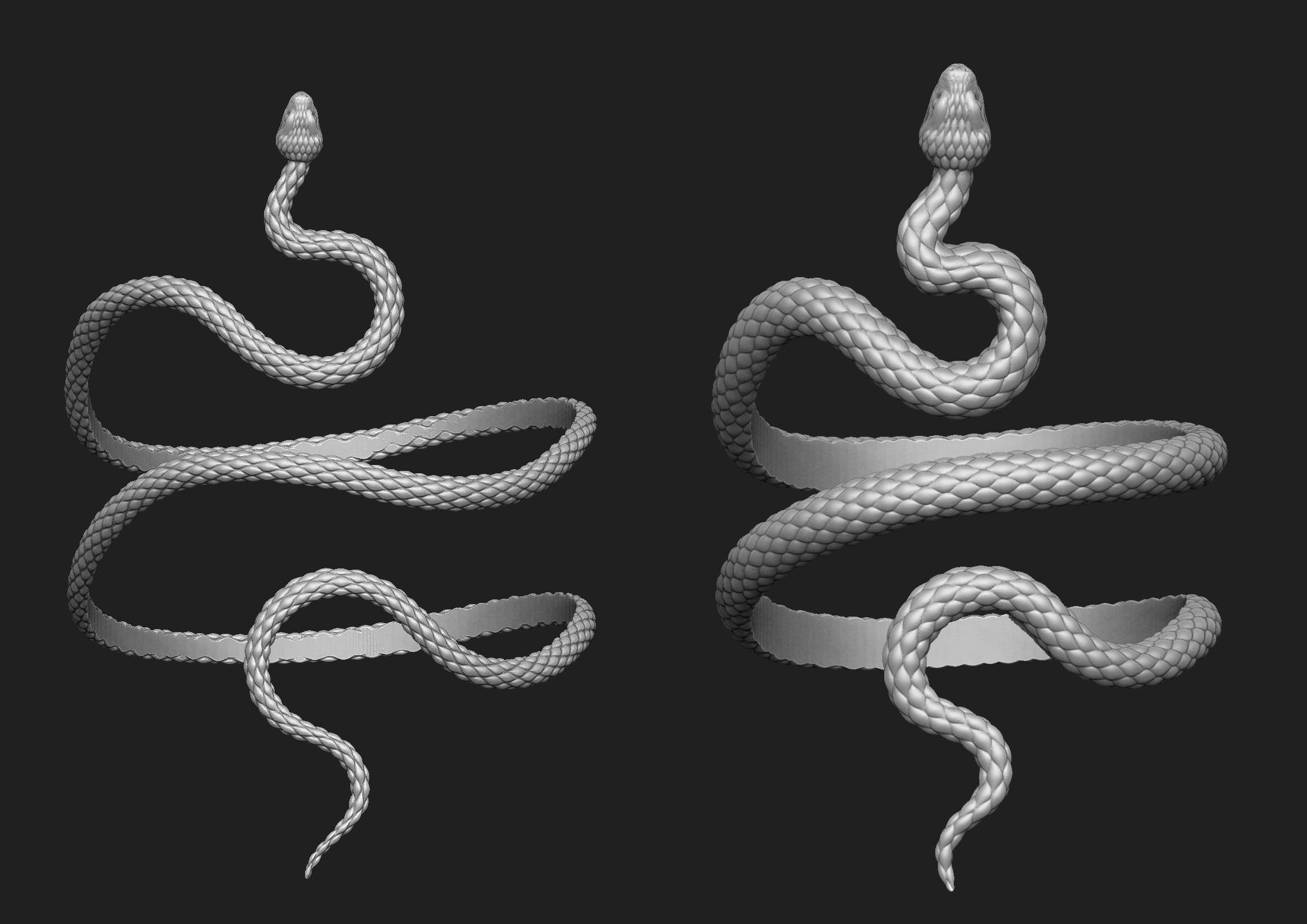 Snake bracelet 2 thickness variants