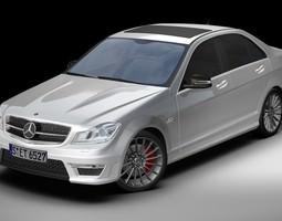 3D 2012 Mercedes Benz C63 AMG